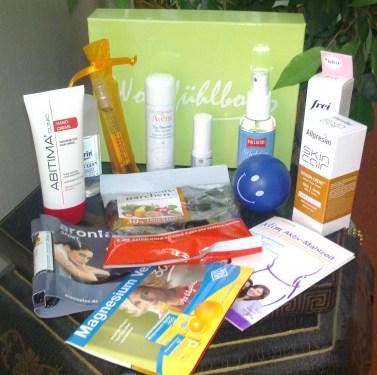 wohlfühlbox juni 2013 - produkte
