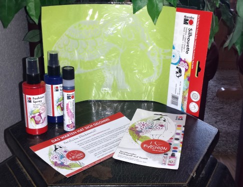 marabu fashion kit - produkte schablone und spray