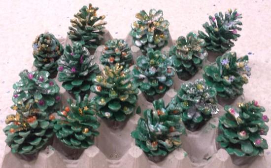 tannzapfen weihnachtsbäumchen