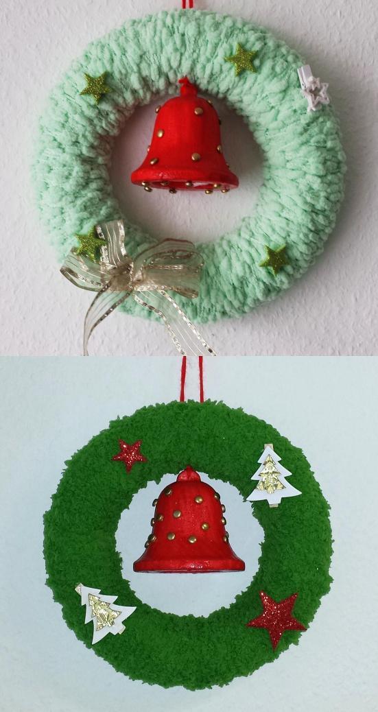 weihnachts-türkranz 2 x