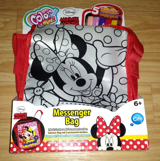 color me mine mickey maus tasche in verpackung