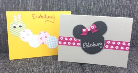 einladungskarten kindergeburtstag selbstgemacht