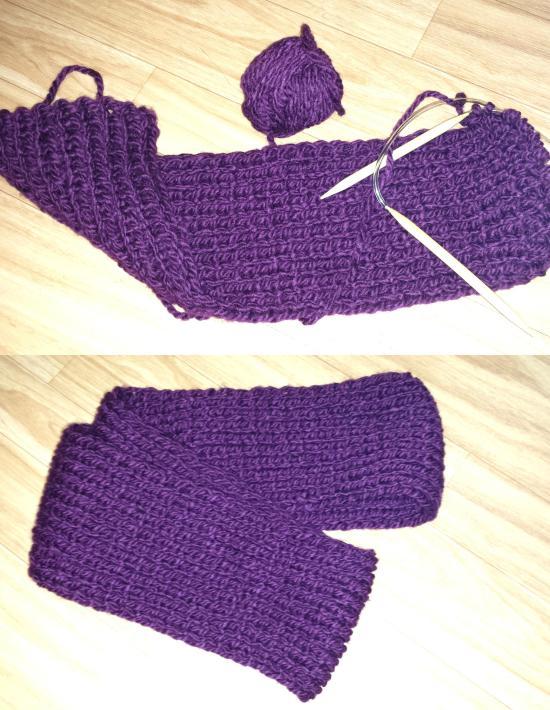 Loopschal violett Nadja