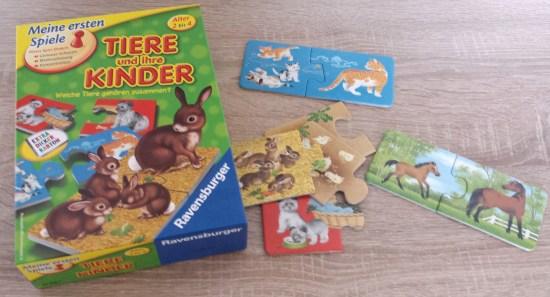 tiere und ihre kinder - puzzle