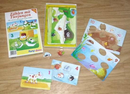 zählen mit tierjungen - puzzle spiel