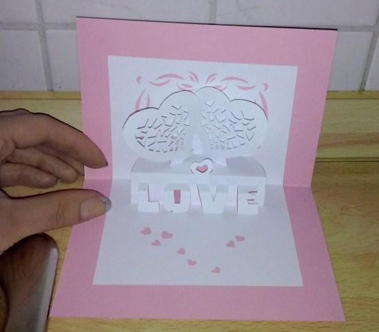 Pop-up Karte Liebe