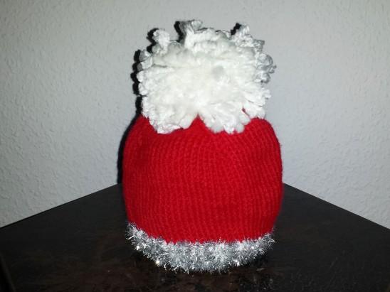 weihnachtsdeko oder geschenkverpackung stricken