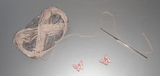 Utensilienkörbchen / Osterkörbchen mit Häkelanleitung