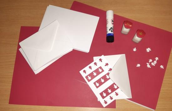 viking weihnachtsbasteln schreibset weihnachtskarten